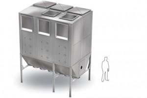 Система с рукавным фильтром и контейнером для сбора пыли NFPZ 3000