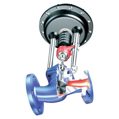 Проходной запорный клапан с фланцами ARI-STEVI 405 с электрическими и пневматическими приводами