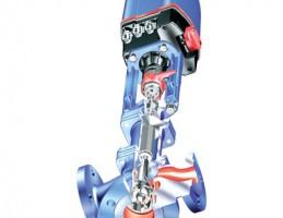 Трехходовой регулирующий клапан с фланцами (Смесительный клапан) ARI-STEVI 450/423 с электрическими и пневматическими приводами